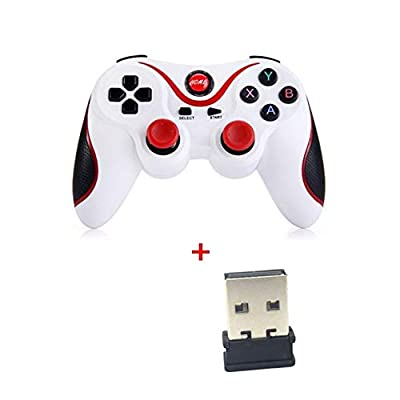 NOLOGO LMCS T3 X3 Wireless Bluetooth Wireless Joystick Game Controller for iOS Android Mobile Phone Game Handle for PC TV Box Holder by LMCS