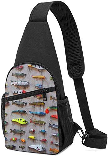 The Best Bait For Fishing Sling Backpack Crossbody Sling Bag for Men & Women, Fashion Chest Shoulder Daypack Casual Backpack for Outdoor Cycling Travel Hiking Gym