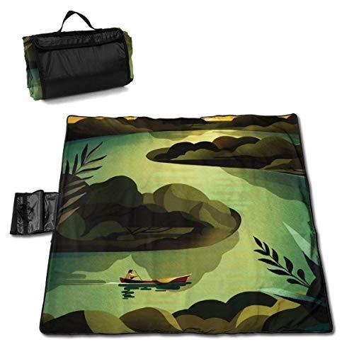 End Nazi Picknickdecke Boot und Fluss Picknickmatte Tragbare Tasche Campingmatte Für Strand Camping Wandergras Reisen