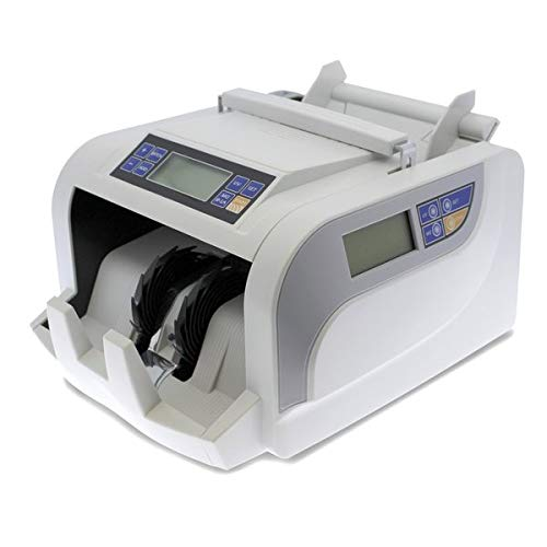 YATEK Contadora de Billetes YK-2830, 3 métodos de detección, MG, UV, IR, Cuenta Billetes automáticamente y manualmente Doble Pantalla LCD