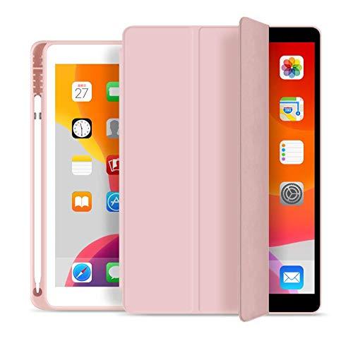 Capa Novo iPad 7a e 8a Geração 10.2″ WB Premium Slim Antichoque com Compart. para Pencil Rosa