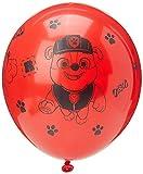 amscan 9903824 Tema de látex de colores surtidos, 6 unidades, globo: Paw Patrol 4 lados Pk6