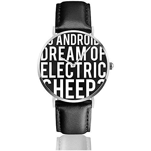 Les androïdes rêvent-Ils de la Lame de Mouton électrique Runner Montres Montre en Cuir à Quartz avec Bande en Cuir Noir pour Cadeau de Collection