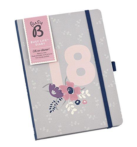 Busy B Agenda 2018 Busy Life Diary - A5 Week to View Agenda Planner com bolsos e programações duplas
