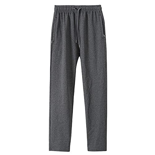 Pantalones para Hombre Primavera y otoño Estilo Deportivo Juventud para Correr al Aire Libre Moda Todo-fósforo Pantalones Rectos de Color sólido con Bolsillos y cordón 4XL