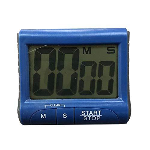 Homeofying Digitaler lauter Wecker, Tisch-Timer, großer LCD-Count-Down-Uhr, für Küche, Kochen für Baker und Kochen blau