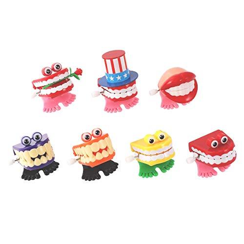 Product Image of the ZhongRuiYongQiang 7PCS Chattering Teeth Wind Up Toy Walking Teeth, Gags...