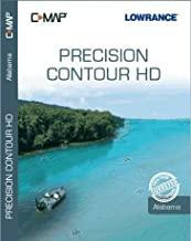 C-MAP Precision Contour HD (Alabama) - High Definition Lake Maps