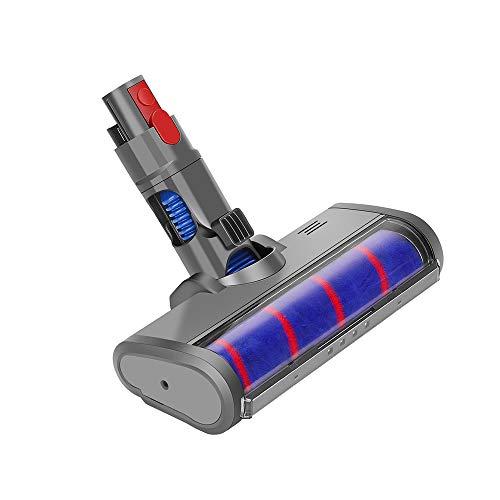Yolando Tête-Brosse pour Dyson Cyclone V11 V10 V8 V7 Aspirateur sans Fil, Brosse de Sol électrique à roulettes Douce de Remplacement d'accessoire pour Parquet/Sols Durs/Nettoyage des Coins Sombres