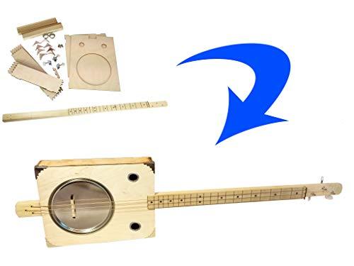 'Tin Pan Alley' 3-string Paint Can Resonator Box Guitar DIY Kit