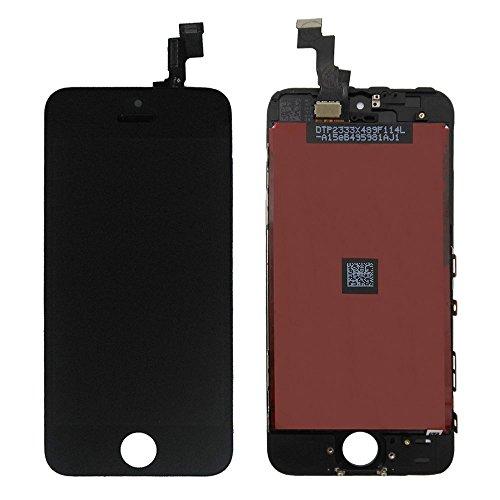 LL TRADER LCD för iPhone se svart display digitaliserare glas lins montering pekskärm ersättning med reparationsverktyg kit