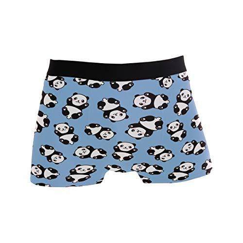 Mnsruu Funny Panda Animal Herren Unterwäsche Regular Bein Boxershorts Gr. XL, multi