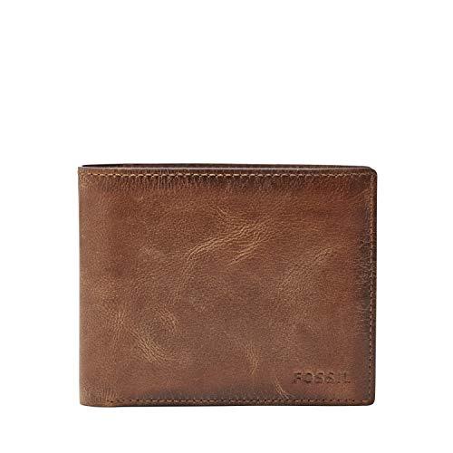 FOSSIL ML3687200 Derrick RFID Large Coin Pocket Bifold Wallet, Brown