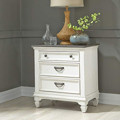 Liberty Furniture Industries Allyson Park Night Stand w/Charging Station, W28 x D17 x H30, White