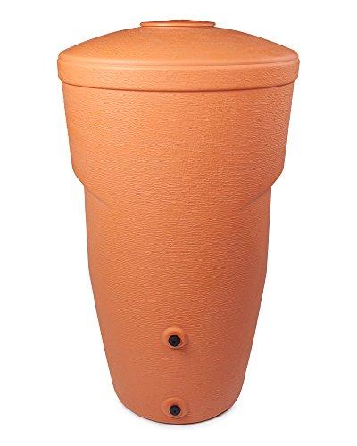 Ondis24 Regentonne Wallycan Amphore Regenspeicher Kunststoff 270 Liter (Terracotta)