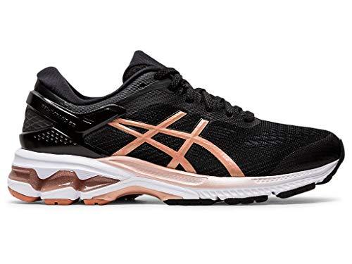 Price comparison product image ASICS Women's Gel-Kayano 26 Running Shoes,  8M,  Black / Rose Gold