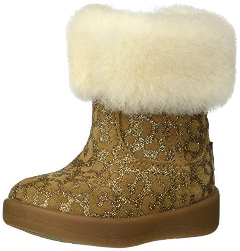 UGG I Jorie Ii Glitter Leopard Bootie, Chestnut, Size 04/05