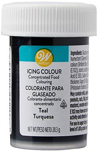 Wilton Colorante Alimenticio para Glaseado en Pasta, 28.3g, Color Turquesa,