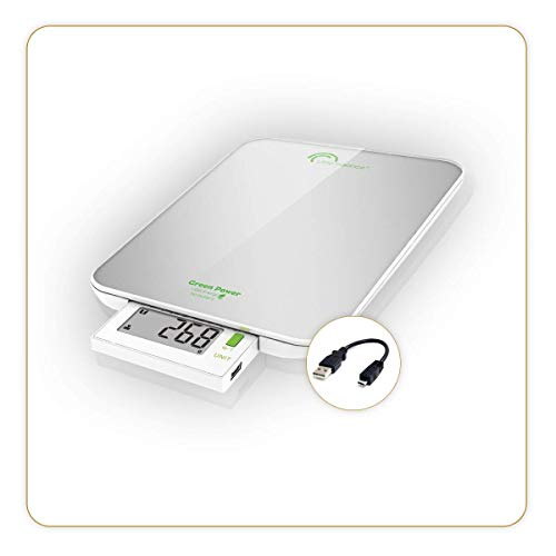 Little Balance 8183 Slide 6 USB Balance culinaire, Verre, 6 kilograms, Silver