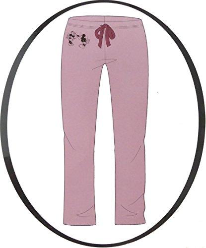 Schlafanzughose Damen Pyjama Schlafhose Disney Minnie Mouse Baumwolle rosa (S)