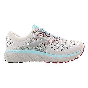 Brooks Womens Glycerin 16 Running Shoe - White/Blue/Pink - B - 9.5
