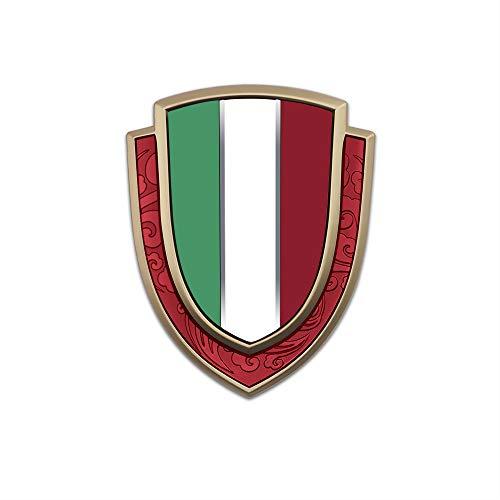NXCY01 Italia Bandera VIP Insignia Etiqueta metálica para Fiat Ferrari Maserati Alfa Romeo Peugeot Citroen Renault 500...