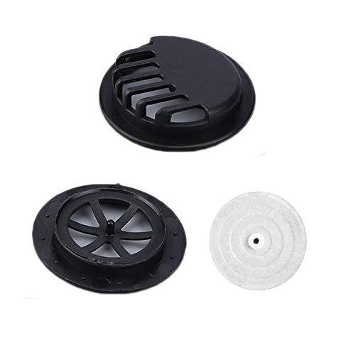 Filtro anti inquinamento Filtro aria respirabile Accessori - Valvole Respirazione Carbone attivo antipolvere Antivento Foggy Haze Cover Filter-nero (30pc)
