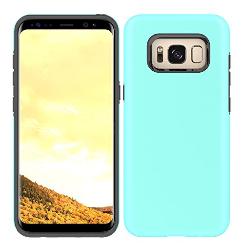 Galaxy S8 Plus Slim Case, HLCT Slim Fit Interior TPU Bumper and Hard PC Back Hybrid Dual-Layer Cover (Teal)