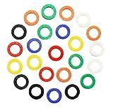Cubierta de Llave Colores,32 Pack Funda de Teclado Etiquetas Tapa de Llaves de Identificación para Casa Oficina Hotel Goma Ronda
