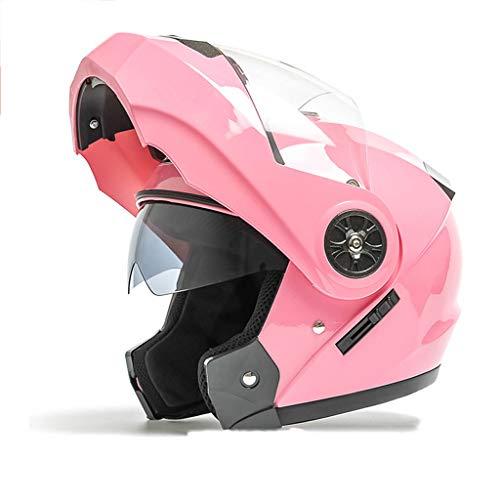 NBJDS Flip Up Front Modular Motorcycle Helmet Casco de Moto de Cara Completa/Abierta Casco Doble Visera Sombrero de Cuatro Estaciones para Adultos Hombres Mujeres,D,L-57-59cm