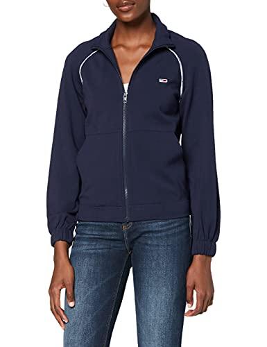 Tommy Jeans Damen TJW Tracksuit Jacket Strickjacke, Blau (Black Iris 002), Small (Herstellergröße: S)