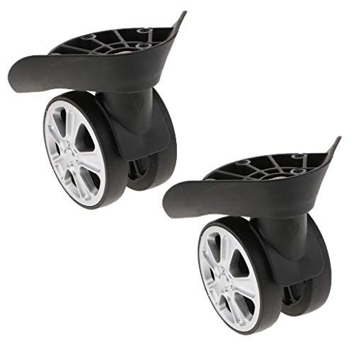 perfk 4 STK Universal Rad Ersatz Schwenkräder für Gepäck Koffer Trolley Reisekoffer