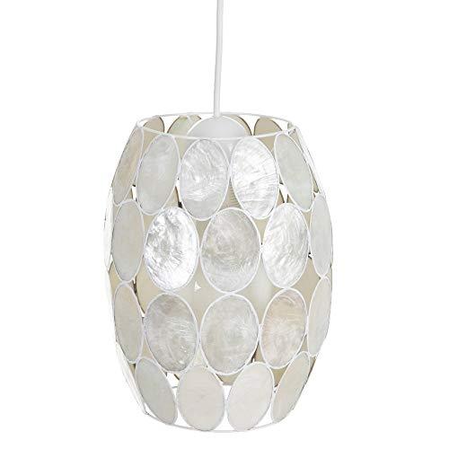 Lámpara de techo tulipa contemporáneo de nácar blanco, de