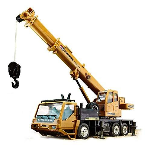 YYQIANG Excavadora coche de juguete, camión de grúa de control remoto, grúa ferroviaria construcción camión cargador niño bulldozer niño y niña niños regalos juguetes educativos