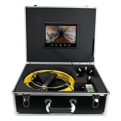 YOIM Telecamera Snake, Telecamera endoscopica WiFi per Scarico Idraulico Lento per Tubo endoscopio fognario Industriale per ispezione Parete/Cavo(Norma Europea (100-240v), Traduzione)