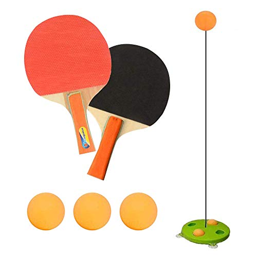 Why Choose Gayrrnel Table Tennis Trainer, Movable Ping Pong Balls Paddles Set - Training Elastic Sof...