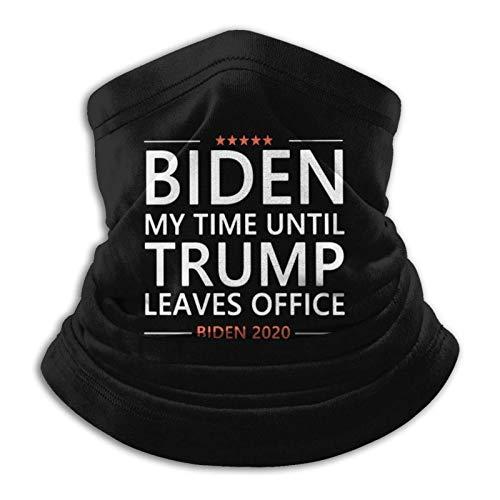 Biden My Time Anti Trump Wahl Lustig sagt Unisex Gesichtsbedeckung Mikrofaser Halswärmer Halsmanschette Schwarz Bandana Sturmhaube