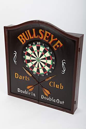 point Home - Armadietto per freccette Bullseye, con bersaglio e mobiletto stile retrò, 70 cm