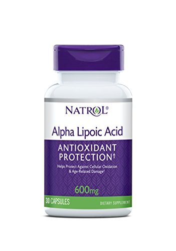 Natrol Alpha Lipoic Acid Capsules, Antioxidant Protection, ALA, Helps Protect Against Cellular Oxidation and Age-Related Damage, Whole Body Cell Rejuvenation, 600mg, 30 Count (Pack of 3)