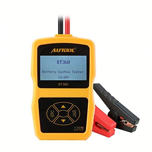 Autool BT360Upgraded - Comprobador del Estado de batería de vehículo - 12V - Medidor de Corriente de Inicio - CCA 100–2400