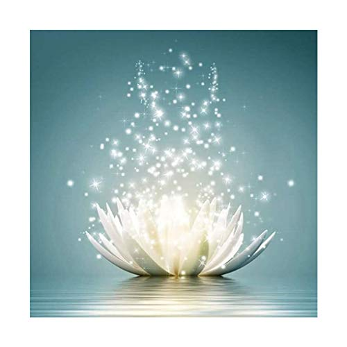 5D Diamond Painting Kit for Adults, Diamond Painting Flower Full Round Drill Romantic Lotus Rhinestone Embroidery Arts Craft Supply for Wall Decoration FANKEE