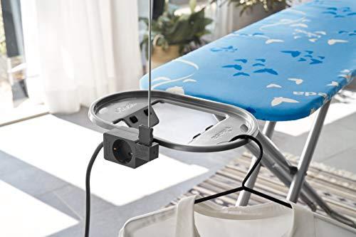Vileda Viva Express Eco Bügeltisch blau – 120×38 cm große, dampfdurchlässige Bügelfläche – Anti-Rutsch-Füße für mehr Halt auf glatten Böden - 5