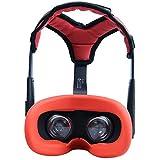 NiceCool Oculus Quest フェイスカバーマスク + ヘッドバンド ヘッドストラップフォームパッド PUレザー 滑り止め 重みを減少 オキュラス クエスト アクセサリー (赤+赤)
