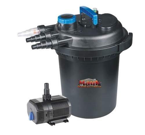 MAUK® XL UVC Teichdruckfilter Komplettset   13 W UVC Klärer   inkl. Pumpe & Bachlauf Funktion   16000 Liter