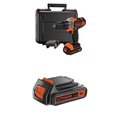 Black + Decker MT218K-GB 18 V Multievo Multi-Tool with Drill Driver Attachment and extra 18V 1.5Ah Slide Battery
