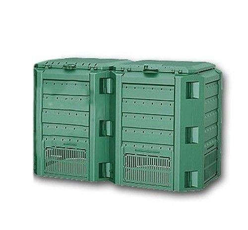 Garten Komposter 800L Grün Modul Thermokomposter Kompostbehälter Kunststoff