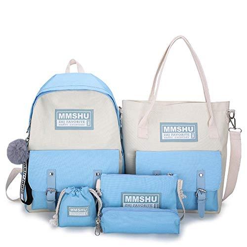 UKKD Backpack School Bag For Teenage Solid Backpack College Schoolbag Women Student Bag Black Lace Bow Bundle Backpacks,10