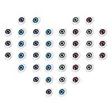 PandaHall Elite 120 Piezas 4 Colores Surtidos Craft plástico Ojos de muñeca Ojos de Peluche Ojos de Juguete para Hacer muñecas DIY, Proyecto de Escuela, 10.5 x 14 x 6 mm