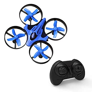 Mini Drone for Kids and Adults RC Nano Training Quadcopter Indoor Small Helicopter Toys with 3D Flip Headless Mode One Key Return Speed Adjustment Hovering and LED lights for Boys and Girls Blue