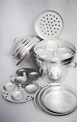 global enterprises e-Global Aluminium Idly/momos/khamand/dhokla Cooker - 16 Idly-Maker
